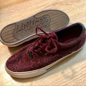 Tommy Hilfiger Maroon Shoes